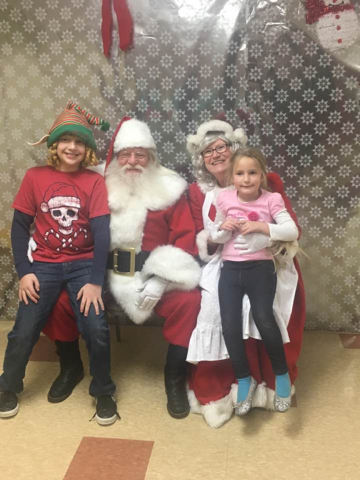 Crystal, Logan, Santa & Mrs. Claus
