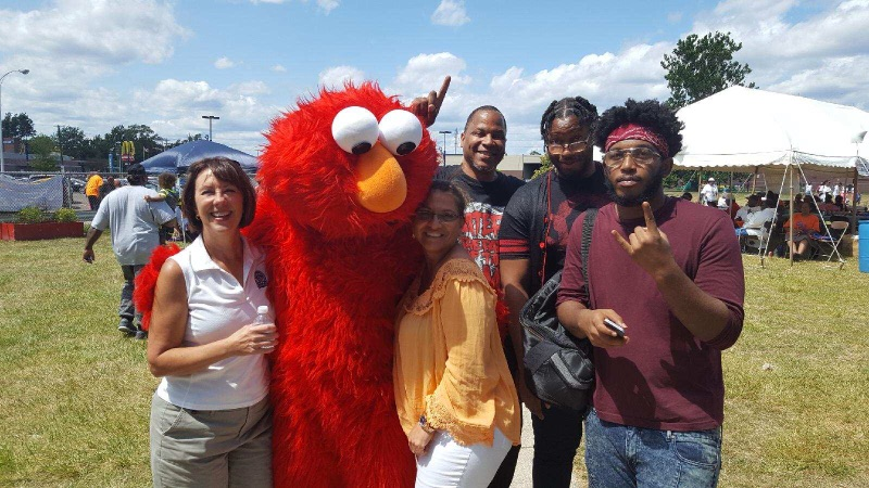 Grace, Elmo and Teenagers