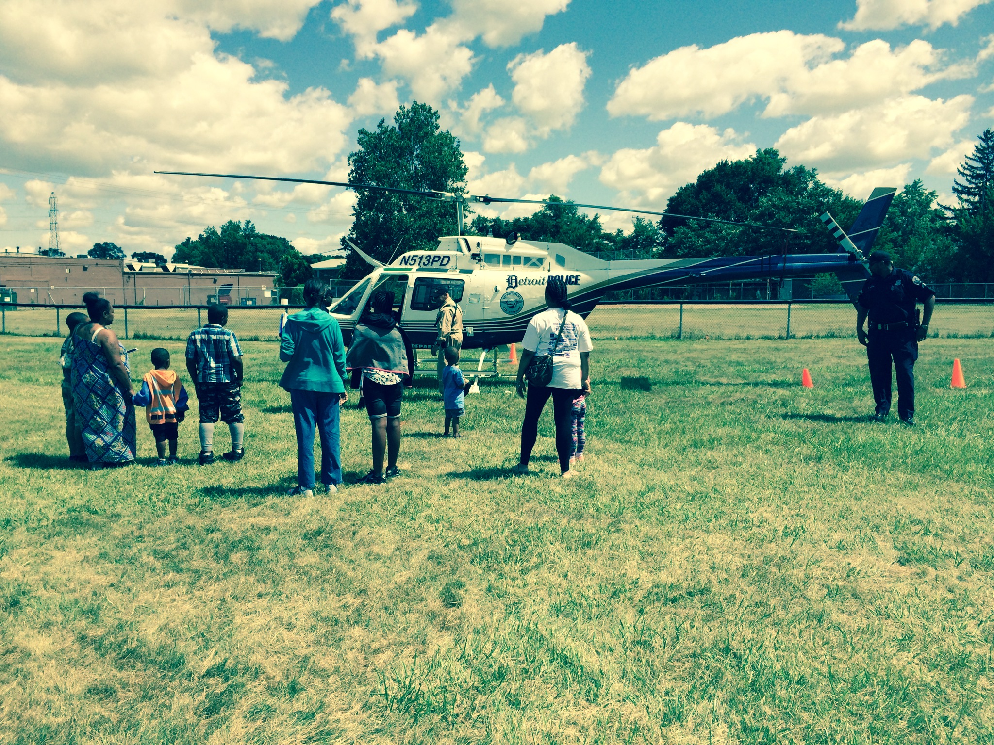 Helicopter and the kids
