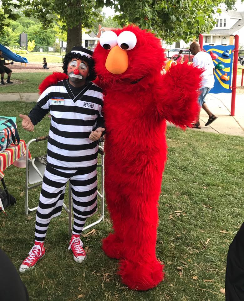 Shifty The Clown and Elmo
