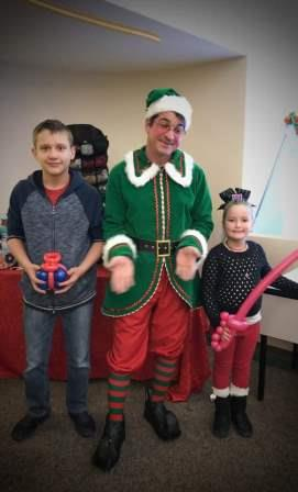 Annual Christmas Party - Balloon Man with Harley and Logan