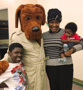 Annual Christmas Party - McGruff, Dolores Stinson and kids