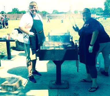 Annual Picnic - Neighborhoods Day - Kris and Charlene - the cooks