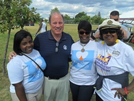 Annual Picnic - Neighborhoods Day - Mayor Duggan, Shirley Burch and Crew